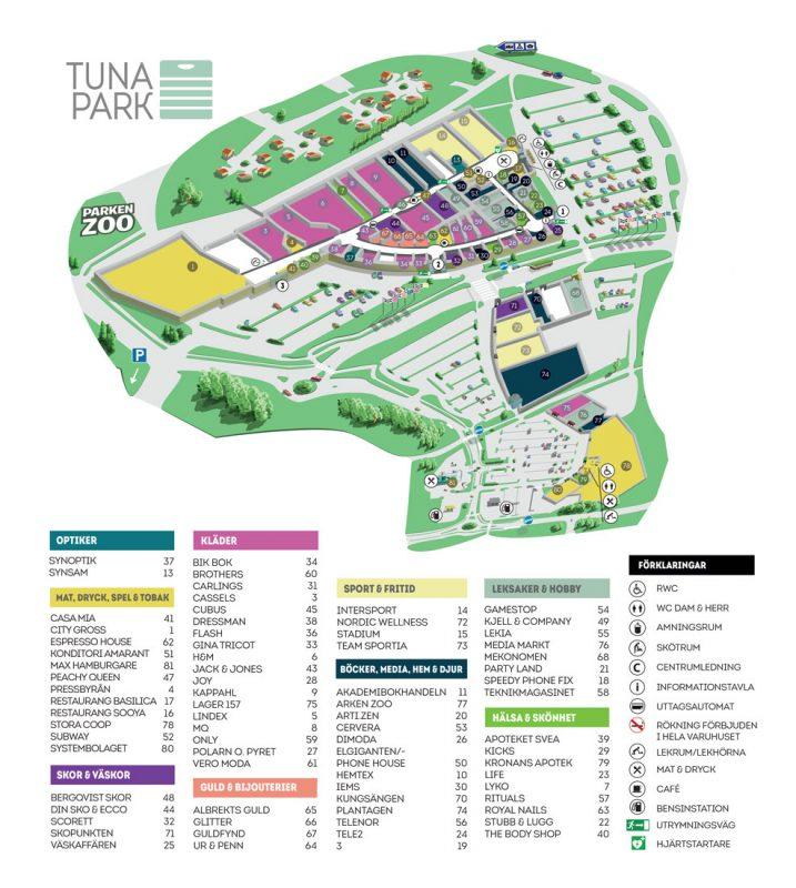 Karta över Tuna Park